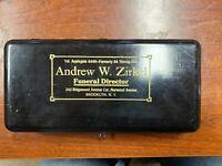 Metal Cashbox And key funeral director mortician morbid undertaker vintage