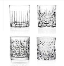 Set Of 4 Mixology RCR DOF Whiskey / Scotch Crystal Glasses
