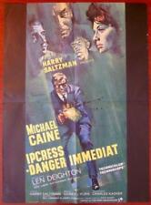THE IPCRESS FILE - ORIGINAL 1965 FRENCH MEDIUM POSTER - COOL MICHAEL CAINE ART!