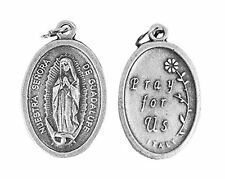 Our Lady of Guadalupe Oxidized Silver Catholic Religious Medals Pendants,12 Set