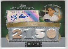 2007 Topps Sterling Yogi Berra Auto Quad Career 2150 Hits #6/10 Yankees