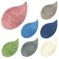 Tappeto bagno a forma di foglia in puro cotone morbido cm 50x90 mod. EVA