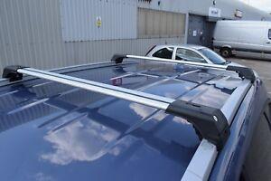 FIAT 500 X onwards 2014 LOCKABLE ALUMINIUM CROSS BARS RACK 75 KG GREY NEW