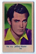 1950s SVEDESE FILM STAR CARTA PA SET #115 AMERICANA PELLICOLA & TV Actor Jeffrey