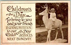 "1915 Church Sunday School Religious Postcard ""CHILDREN'S DAY"" Lawrence, Kansas"
