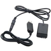 NP-FW50 Dummy Battery USB Adapter Cable for Sony NEX-3 5 6 7 Series
