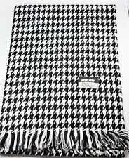 New Tassel Black Women Shawl Wrap Scarf Stole Houndstooth Lady Made in Taiwan