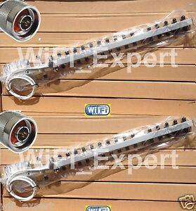 2 18dBi 16dBi Yagi WiFi Antenna N TYPE MALE RF Connector