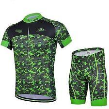 Green Cycling Jersey and Pant/Short Set