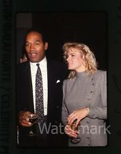 35mm photo slide O.J. Simpson and Nicole Brown Simpson  #12 1989 Los Angeles CA