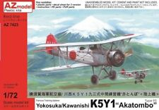 AZ Model 1/72 K5Y1 Akatombo WWII Japanese Trainer Biplane Model Kit 7423 NIB