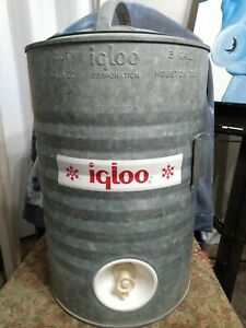 Vintage Igloo Heavy Duty Perm-A-Lined 3 Gallon Drinking Water Cooler Houston TEX