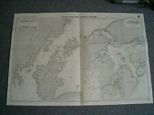 Vintage Admiralty Chart 3112 JAPAN - PLANS ON WEST COAST OF KYUSHU 1956 edn