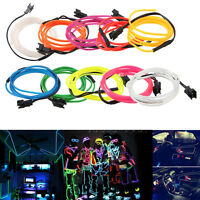 LED Light EL Wire String Strip Rope Glow Decorative Light Part Festival 2019