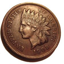 OLD US COINS 1908 INDIAN HEAD CENT FULL LIBERTY BEAUTY