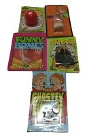 NOS Vintage novelty lot of 5 gag prank Gift Boy Stocking Stocker