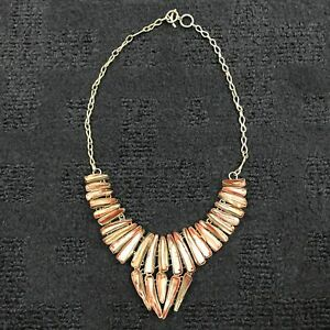 Freshwater Biwa pearl Silver Pleated Necklace