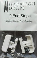Harrison Drape End Stops, Standard, Extra & Superdrape track accessory, pack 2