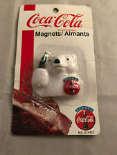 NEW COCA-COLA MAGNET W/POLARBEAR AND COUTURE COKE BOTTLE