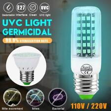 E27 2385 SMD LED Sterilize 250nm UV-C Light Germicidal UV Bulb Lamp Disinfection