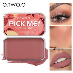 O.TWO.O Multifunctional Makeup Palette 3 IN 1 Lipstick Blush For Face Eyeshadow