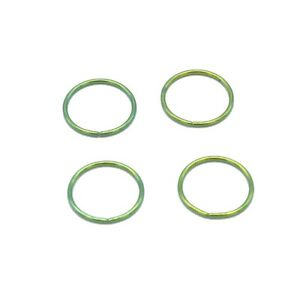 """20G 18G 1/4"""" 5/16"""" 3/8"""" Gold Plated on Steel Seamless Nose Hoop Ear Tragus Ring"""