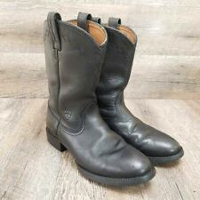 Ariat Heritage Roper Womens Western Boot Black Leather Pull On Size 7 B