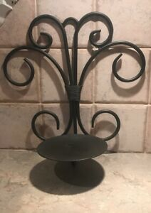 """2 Rustic Sconce Brown Candle Holder Wall Decor. 10-1/2""""L X 10""""W."""