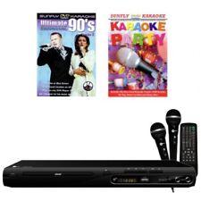 KARAOKE KOMPLETT ANLAGE CD+G DVD PLAYER + 2 MIKROFONE + 2 KARAOKE PARTY DVD's