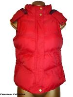 Ladies RED Quilted, Padded & Hooded Warm, Snug Gilet Bodywarmer 8 10 12 14 16
