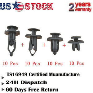 40x Auto Car Push Retainer Pin Rivet Trim Clip Panel Moulding Assortment For RX8