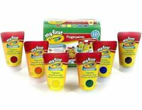 Crayola My First Washable Fingerpaint Art Tools 6 Different Coloured Tubes Paint