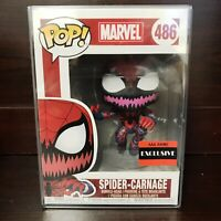 "Funko Pop Marvel AAA Anime Exclusive : Spider-Carnage #486 Vinyl ""MINT"" IN STOCK"