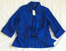 Mishca Royal Blue Crinkle Wrap Top w/ Collar    NWT   MSRP $59.99