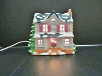 Vintage 1988 ROLAND RUN LANE Ceramic Lighted Christmas House