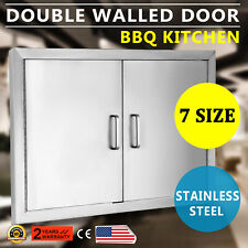 """31"""" Outdoor Kitchen / Bbq Island Stainless Steel Double Access Door Usa New"""