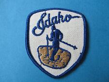 Vintage 70's Ski Idaho Snow Hat Jacket  Patch Crest Downhill Cross Country