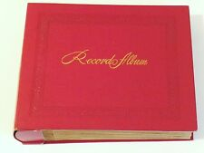"""VINTAGE DECCA 7"""" RECORD HOLDER ALBUM,RED 24 PAGES,NO WRITING ON THE INDEX"""
