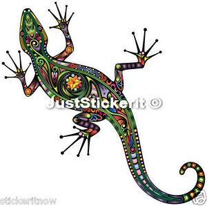 Multi Colourful Lizard Gecko Bumper Sticker Car Caravan Sticker Decal 100mm Ipad
