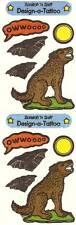 Sandylion Vintage 80's SCRATCH'N SNIFF WOLF Stickers 2 Squares 1984  RETIRED
