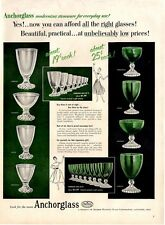 1954  Anchorglass Glass Goblets Vase 8 styles PRINT AD