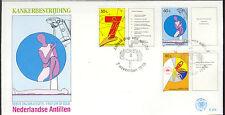 ANTILLEN 1989 FDC 214 KANKER BESTRIJDING