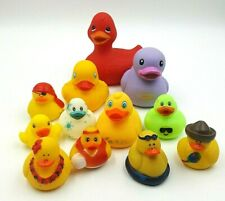 Rubber Duck Lot of 12 Big One Squeaks Ducky Bath Toys Toy