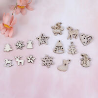 100pcs Wooden Ornaments DIY Christmas Tree Hanging Pendants Xmas Party Decor TK
