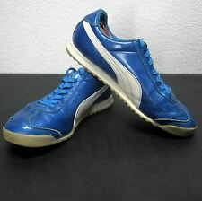 PUMA ROMA 68 MEN'S (8.5W) BLUE/WHITE LOW PROFILE LEATHER ATHLETIC SNEAKERS VGUC