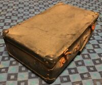 ancienne valise rétro vintage Rigide Noir  H 14 L 49 l 30 cm #74