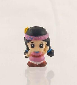 "Squinkies Mini Figure 3/4"" Girl in Pink Dress, Headband"