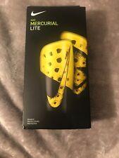 Nike Mercurial Lite Soccer Shin Guard (Black and Yellow) SP2120-731 Sz L
