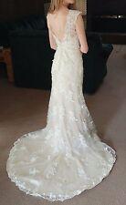 Champagne & Ivory Sheath/Mermaid Sincerity Wedding Dress (OBO)