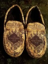 Adult Medium 9-10 Harry Potter The Marauders Map Design Moccasin Slippers Rare